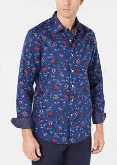Tasso Elba Men's Roman Floral Shirt, Created for Macy's
