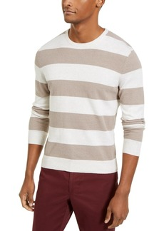 Tasso Elba Men's Rugby Boucle Sweater, Created for Macy's
