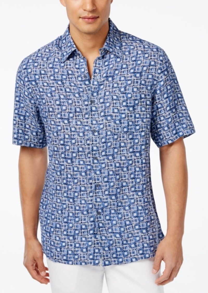 Tasso Elba Men's Scarpa Tile Short-Sleeve Shirt, Only at Macy's