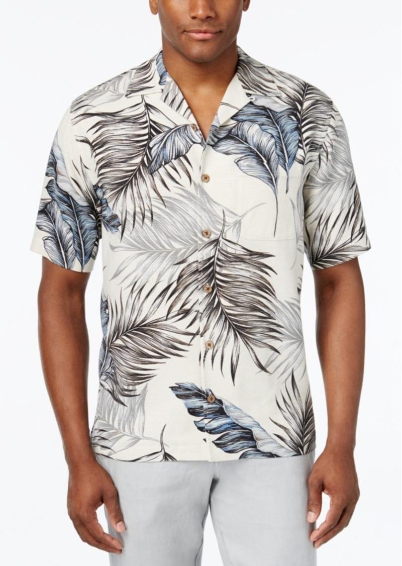 Tasso Elba Men's Print Classic-Fit Silk Shirt, Only at Macy's