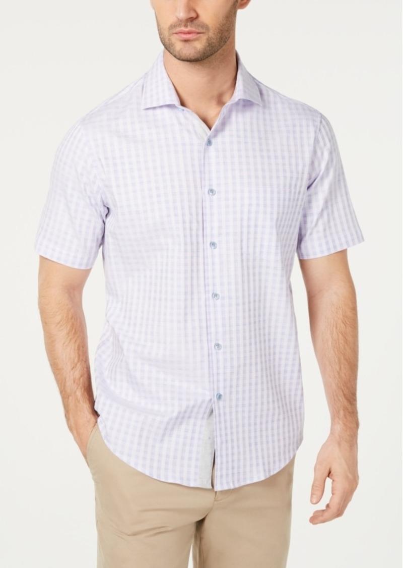 Tasso Elba Men's Spacedyed Check Shirt, Created for Macy's
