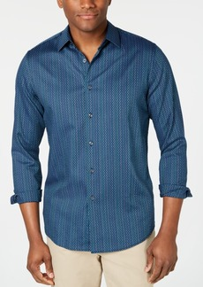 Tasso Elba Men's Stretch Dash Stripe Dobby Shirt, Created for Macy's