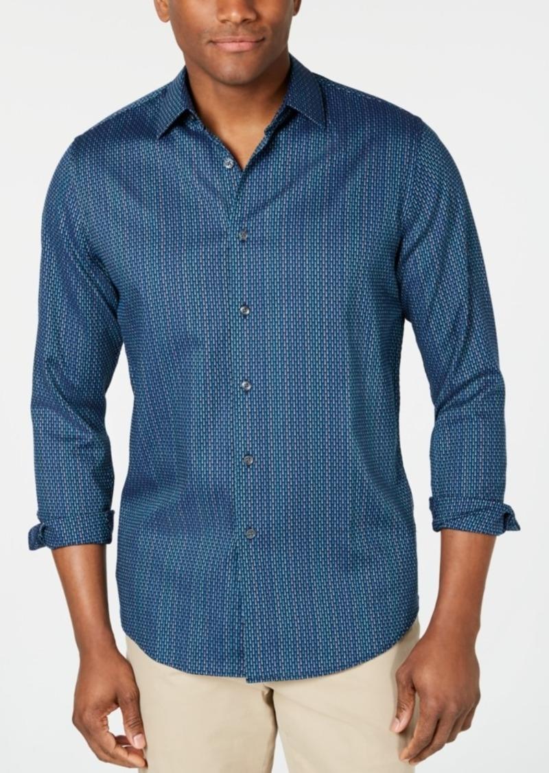 Tasso Elba Men's Stretch Dash Stripe Dobby Shirt, Created for Macy's