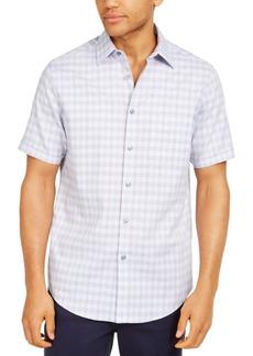Tasso Elba Men's Stretch Mini-Box Dobby Plaid Shirt, Created for Macy's
