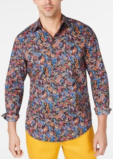 Tasso Elba Men's Stretch Multi-Paisley Shirt, Created for Macy's