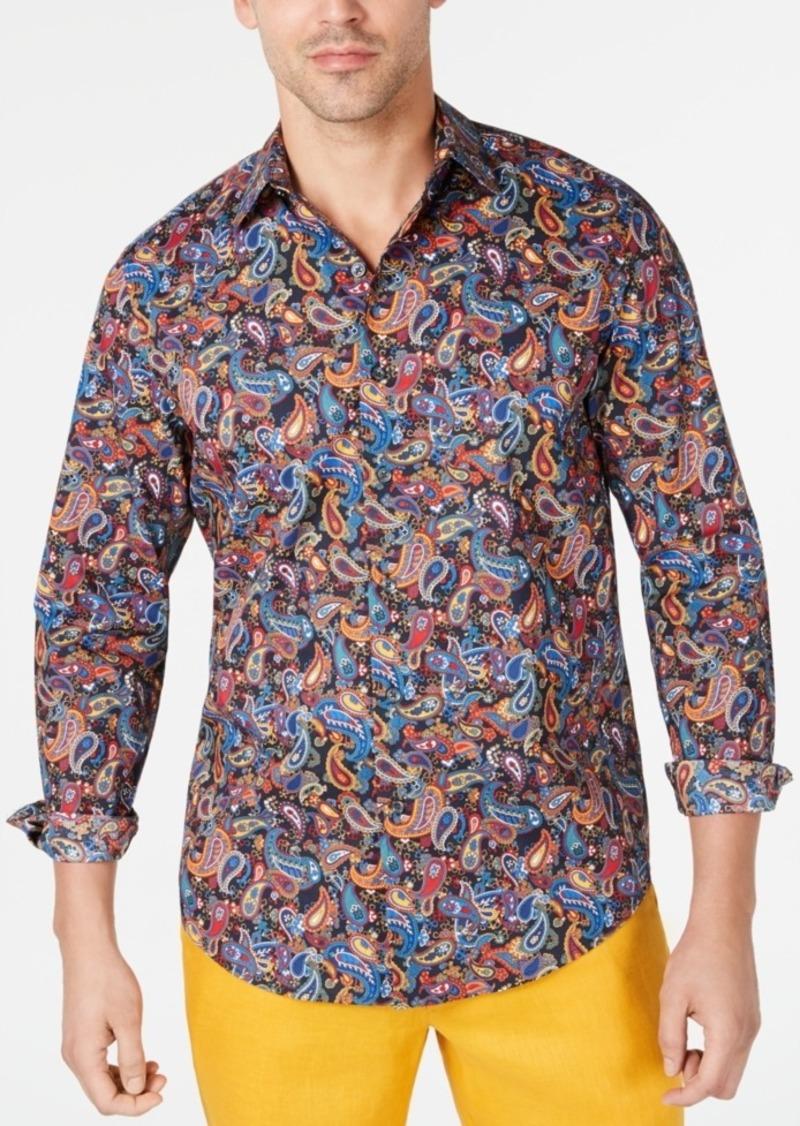 Tasso Elba Men's Stretch Multi-Paisley Shirt, Created for Macy's