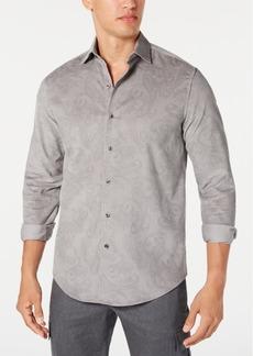 Tasso Elba Men's Stretch Paisley-Print Corduroy Shirt, Created for Macy's