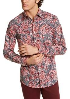 Tasso Elba Men's Stretch Paisley-Print Shirt, Created for Macy's