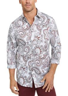 Tasso Elba Men's Stretch Paisley Woven Shirt, Created for Macy's