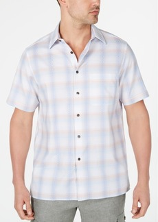 Tasso Elba Men's Stretch Plaid Dobby Shirt, Created for Macy's
