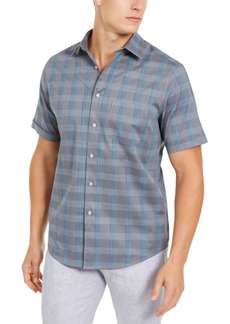 Tasso Elba Men's Stretch Stripe Dobby Shirt, Created for Macy's