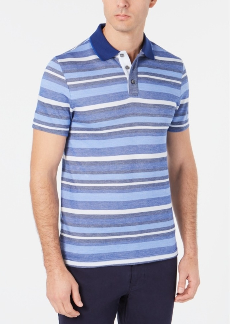 Tasso Elba Men's Stripe Polo, Created for Macy's