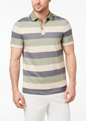Tasso Elba Men's Striped Supima Blend Polo, Created for Macy's