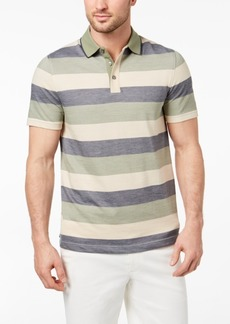 Tasso Elba Men's Striped Supima Blend Polo, Created for Macy's