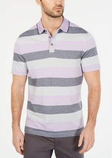 Tasso Elba Men's Striped Supima Blend Stripe Polo, Created for Macy's