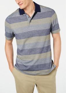 Tasso Elba Men's Striped Supima Blend Stripe Polo, Created for Macy's