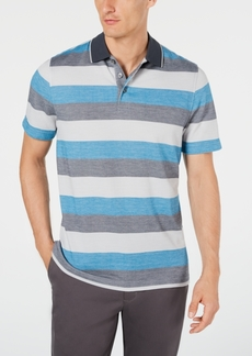 Tasso Elba Men's Supima Blend Birdseye Striped Polo, Created for Macy's