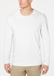 Tasso Elba Men's Supima Blend Crewneck Long-Sleeve T-Shirt, Created for Macy's