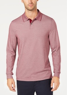 Tasso Elba Men's Supima Blend Long-Sleeve Polo, Created for Macy's