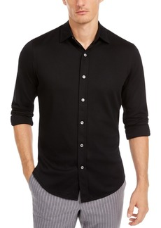 Tasso Elba Men's Supima Cotton Birdseye-Knit Shirt, Created for Macy's