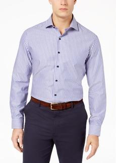 Tasso Elba Men's Supima Cotton Dobby Striped Shirt, Created for Macy's
