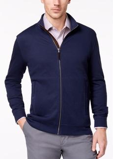 Tasso Elba Men's Supima Cotton Full-Zip Knit Jacket, Created for Macy's