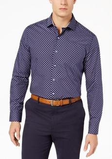 Tasso Elba Men's Supima Cotton Geo-Print Shirt, Created for Macy's