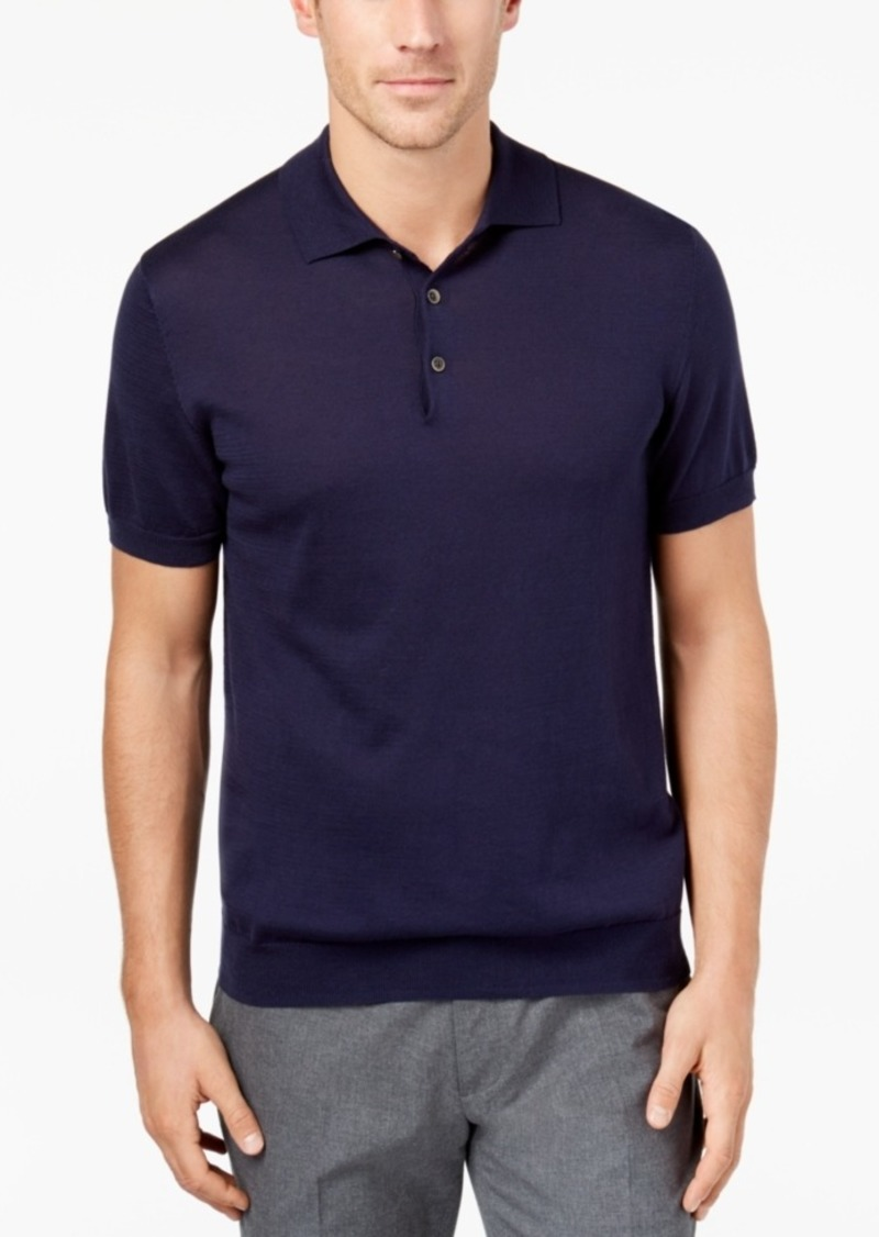 4a8af120ec6 Men's Supima Cotton Sweater Polo, Created for Macy's
