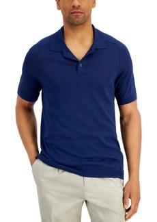 Tasso Elba Men's Sweater-Knit Linen Polo Shirt, Created for Macy's