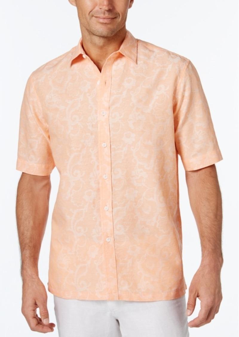 Tasso Elba Men's Linen Cotton Texture Short-Sleeve Shirt, Only at Macy's