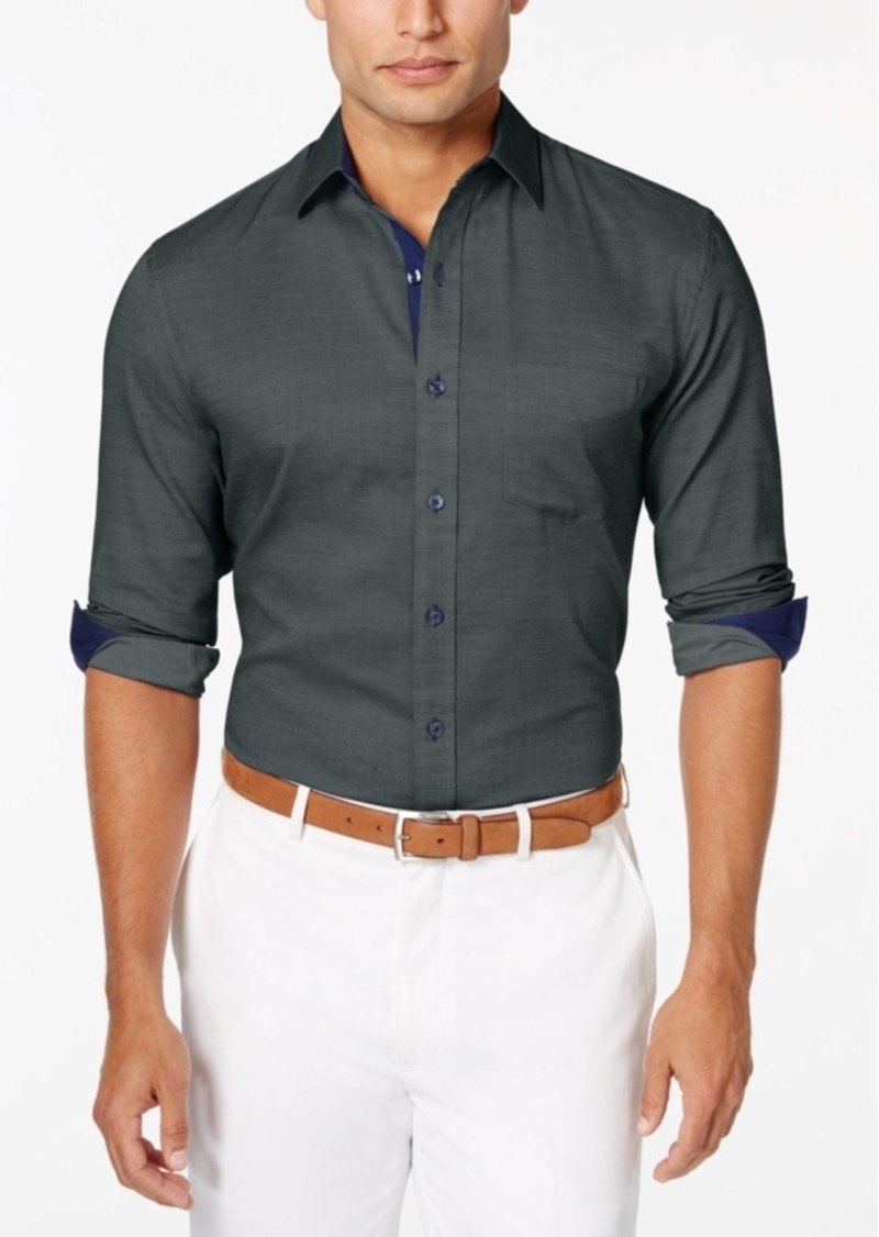 Tasso Elba Men's Texture Long-Sleeve Shirt, Only at Macy's
