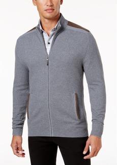 Tasso Elba Men's Textured-Knit Full-Zip Jacket, Created for Macy's