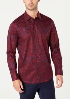 Tasso Elba Men's Textured Paisley Shirt, Created for Macy's