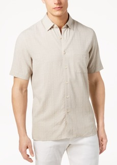 Tasso Elba Men's Textured Silk Blend Shirt, Created for Macy's