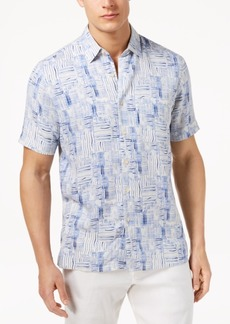 Tasso Elba Men's Thatch-Print Shirt, Created for Macy's