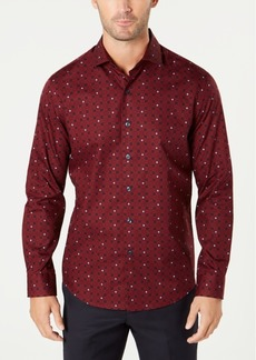 Tasso Elba Men's Tile-Print Shirt, Created for Macy's