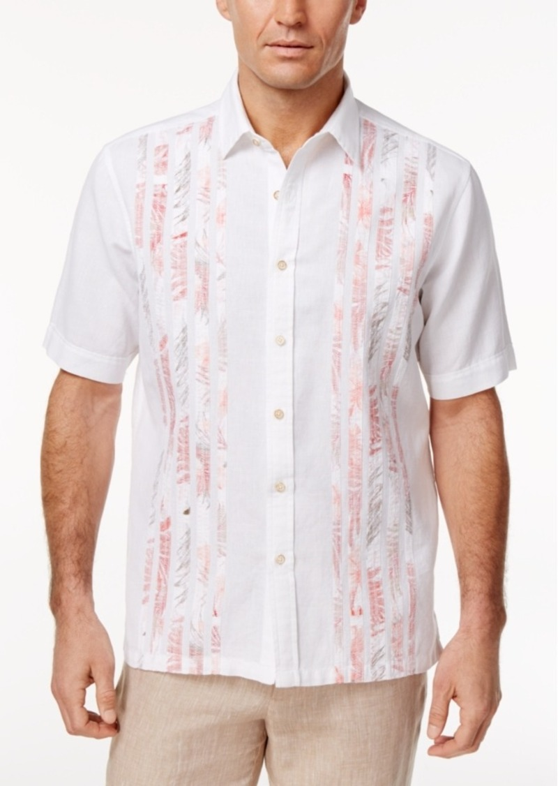 Tasso Elba Men's Linen Short-Sleeve Shirt, Created for Macy's