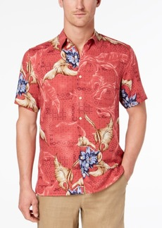 Tasso Elba Men's Tropical-Print Shirt, Created for Macy's