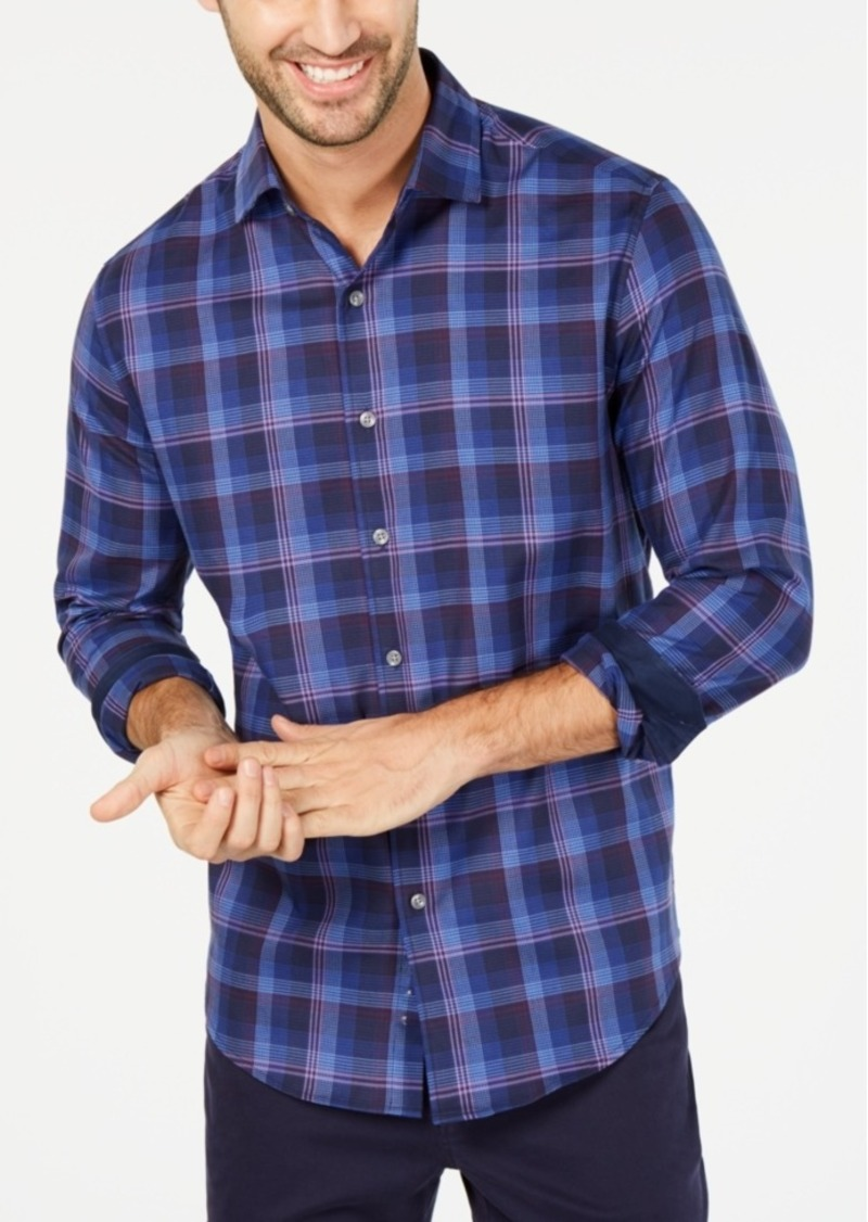 Tasso Elba Men's Umbruzo Plaid Shirt, Created for Macy's