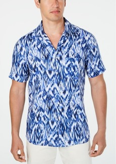 Tasso Elba Men's Utata Ikat Linen Shirt, Created for Macy's