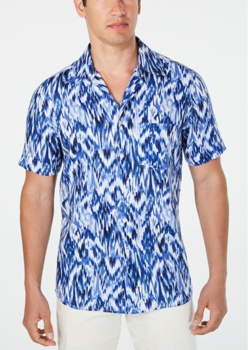 Tasso Elba Men's Utata Ikat Linen Shirt, Created for Macy's