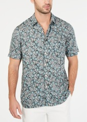Tasso Elba Men's Vedere Floral-Print Silk Blend Shirt, Created for Macy's