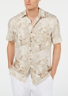 Tasso Elba Men's Watercolor Silk Shirt, Created for Macy's