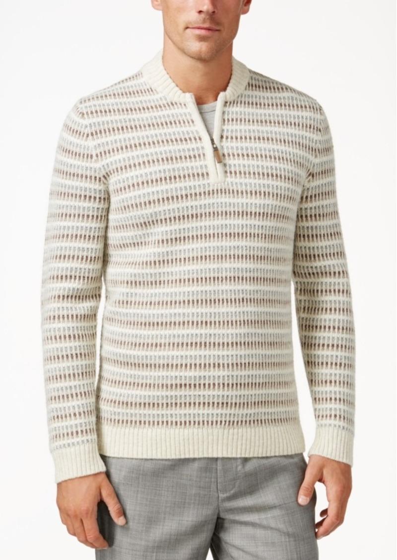 Tasso Elba Men's Wool Blend Quarter Zip Sweater, Only at Macy's