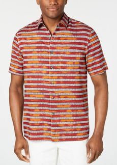 Tasso Elba Men's Zoya Striped Silk Shirt, Created for Macy's