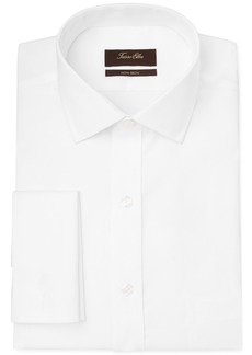 Tasso Elba Slim-Fit Non-Iron Twill Solid French Cuff Dress Shirt, Created for Macy's