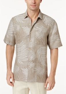 Tasso Elba Tropical Print Silk Linen Blend Short-Sleeve Shirt, Created for Macy's