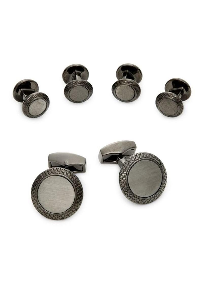 Tateossian 3-Pair Gunmetal-Tone Cufflinks