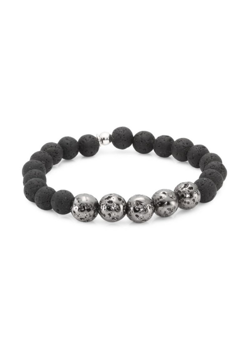 Tateossian Asteroid Sterling Silver Beaded Bracelet