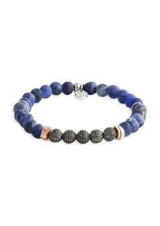 Tateossian Blue Stonehenge Beaded Bracelet